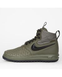 Nike - Duckboot Medium Olive Lunar Force 1 Olive Olive e Black Wolf 17 - Lyst