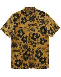 Vans Dark Tobacco Dried Aloha Woven Short Sleeve Shirt - Multicolour