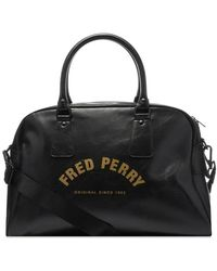 Fred Perry Arch Branded Grip Bag Black - Negro