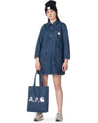 A.P.C. Denim Blue Apc X Carhartt Aurelia Dress