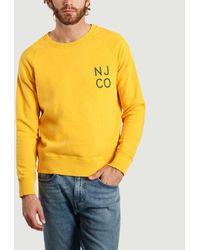 Nudie Jeans Njco Melvin Sweatshirt - Yellow