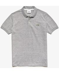 Lacoste Gray Cotton Live Slim Fit Polo Shirt