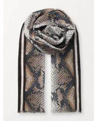 Becksöndergaard Bufanda algodón con estampado serpiente - Neutro