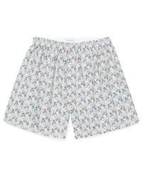 Sunspel Men's Printed Cotton Boxer Shorts In Liberty Cyclists - Multicolour