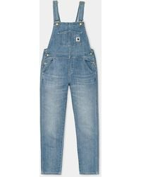 Carhartt W' Bib Overall Blue Light Stone Washed