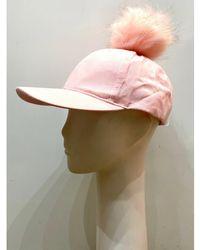 The West Village Suede Cap Pink