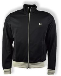 Fred Perry Contrast Trim Track Jacket - Black