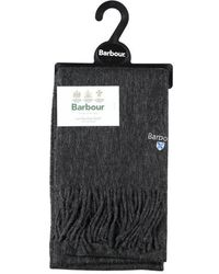 Barbour Plain Lambswool Scarf Charcoal - Black