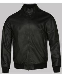 Z Zegna Black Leather Bomber