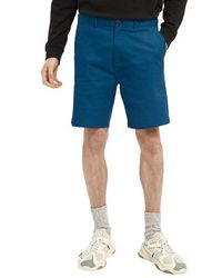 Scotch & Soda Stuart Pima Cotton Shorts Sinister Verde - Azul