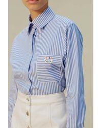 Être Cécile Chemise Stripe Petite Amie - Bleu