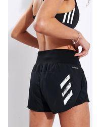 adidas Pantaloncini PB Run It 3 strisce neri - Nero