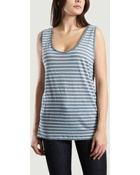 Sessun Tani Striped Vest Top - Blue