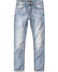 Nudie Jeans Jeans Cross Lean Dean Slim Fit usati - Blu