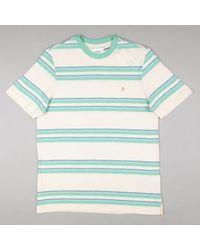 Farah Https://www.trouva.com/it/products/-cream-mission-short-sleeve-striped-t-shirt - Blu