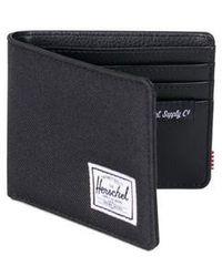 Herschel Supply Co. Black Crosshatch Hank Wallet