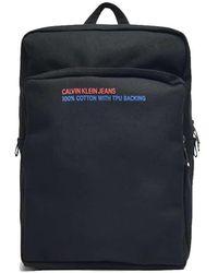 Calvin Klein Square Backpack Black - Blue