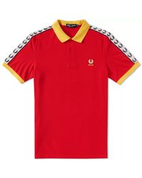 Fred Perry Baumwolle Spanien Country Polo Shirt - Rot