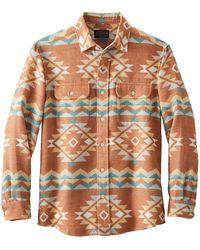 Pendleton Beach Shack Shirt Terrakotta Multi - Braun