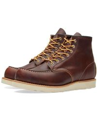 "Red Wing Red Wing 8138 Heritage Work 6"" Moc Toe Boot Briar Oil Slick - Brown"