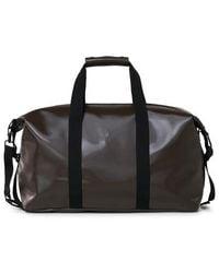 Rains Weekend Bag Shiny Brown - Black
