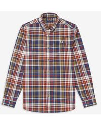 Fred Perry Fred Perry Tartan Shirt - Navy - Blue