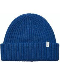 SELECTED Merino Wool Beanie - Blue