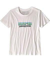 Patagonia - Camiseta Ws Pastel P 6 Logo Organic Crew blanco - Lyst
