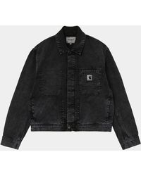 Carhartt Veste-chemise noire Sonora
