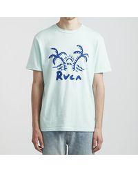 RVCA - Maglietta Palmer Dusty Aqua - Lyst