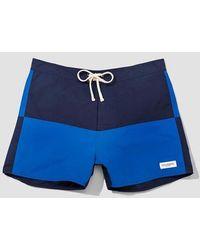 Saturdays NYC Short de bain Ennis Marine Azzure Nylon - Bleu