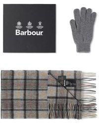 Barbour - Ensemble cadeau écharpe et gant moderne - Lyst