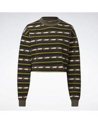 Reebok Army Green Classics Printed Jersey - Multicolor