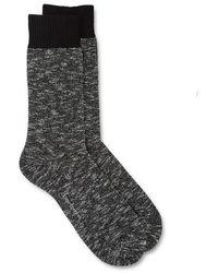 Oliver Spencer Miller Socks Yates Black - Gray