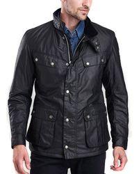 Barbour Duke Wax Jacket In Schwarz - Mehrfarbig