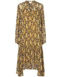 Second Female Snake Long Sleeve Maxi Dress - Multicolour