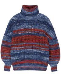 Sessun Sessun Azuris Striped Roll Neck Knit - Blue