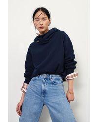 Ba&sh Https://www.trouva.com/it/products/baandsh-daren-sweatshirt-navy - Blu