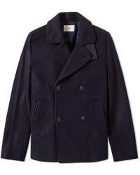 Folk Navy DB Overcoat - Blu