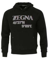 Z Zegna - Sudadera con capucha negra - Lyst