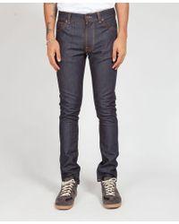 Nudie Jeans Dry 16 Drips L 32 Lean Dean - Azul