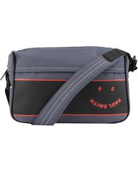 Paul Smith Cross Body Face Logo Bag - Blue