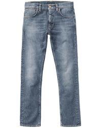 Nudie Jeans Jean Grim Tim Pale Shelter - Bleu