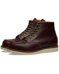 """Red Wing Red Wing 8856 Heritage Work 6 """"Moc Toe Boot Oxblood Mesa - Marron"""