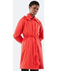 Rains Trench Coat - Red