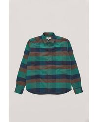 YMC Curtis Check Shirt Multi - Multicolour