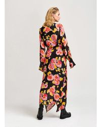 Essentiel Antwerp Black Floral Valoumi Dress - Multicolour