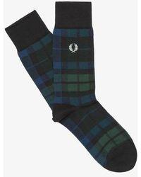 Fred Perry Black Watch Tartan Socks Ivy - Multicolour