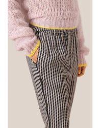 Second Female Pantaloni neri a quadretti Ed Mw - Multicolore