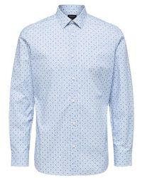 SELECTED Sixten Dobby Shirt - Blau